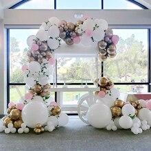 Latex Balloon Garland Chain Arch Kit Pink Metallic Balloon for Blush Bridal Shower Wedding Birthday Baby Shower Party Decoration