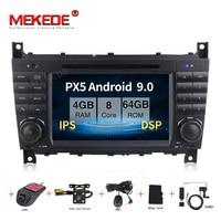 MEKEDE Android 9.0 Car GPS auto radio Player for Mercedes BenzC Classs CLC W203 CLK W209 2004 2007 C200 C230 C220 C320 C350