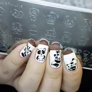 Image 4 - BORN PRETTY Animal Series stemplowanie płyt szablon stempla wzór sowa ze obrazem kwiatu płyta szablon do paznokci narzędzia do drukowania
