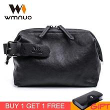 Wmnuo 2019 Brand Clutch Wallets Men Casual Hand Bag Men Genuine Leather Soft Sheepskin Male Bag Large Capacity Men Purse Hot