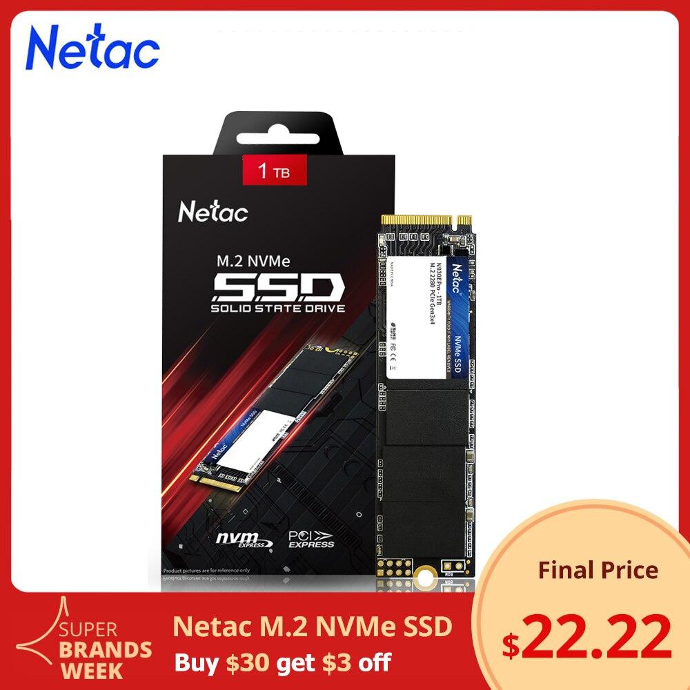 Внутренний твердотельный накопитель Netac SSD m2 512 ГБ NVME SSD 1 ТБ 256 ГБ M.2 SSD 128 Гб PCIE nvme 500 Гб 250 ГБ, жесткий диск для ноутбука