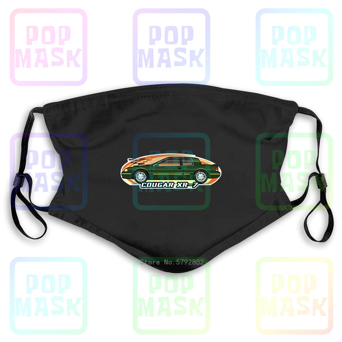 Dust Mask with Filter Car Art Cougar Xr-7 Xr7 1996 1997 Ls Not Affiliated With Mercury Washable Reusable Mask