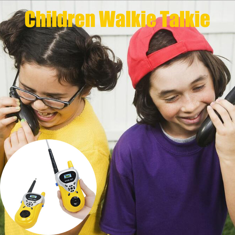 1 Pair Kids Walkie Talkie Interactive Toys For Children Family Game Mobile Phone Telephone Talking Toy For Child Birthday Gift