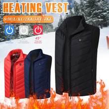 Colete de aquecimento quente masculino usb elétrico sem mangas aquecimento jaqueta inverno térmico para caminhadas ao ar livre