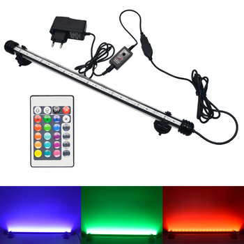 Aquarium Light LED Waterproof Fish Tank Lamp Underwater Submersible RGB Fish Lighting Aquarium Decor Plant 19-49CM 110v 220V sunsun ads aquarium led lighting aquatic plant grass fish tank led light super bright lamp aquarium light 12 24w grow lampe 220v