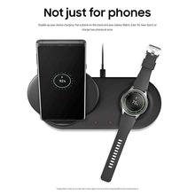 Wireless Charger Dock Station 2 in 1 For Samsung Galaxy Note 9 Mobile Phone Stand Fast Charging for Samsung Galaxy Watch for samsung galaxy tab 2 7 0 8 9 10 1 charging pod dock holder usb cable for samsung galaxy note 10 1 n8000 n8010 wall charger