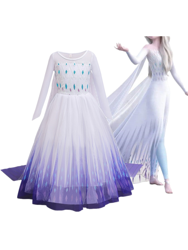 Snowflake-Costume Party-Dresses Girls Clothing Holiday Fancy Halloween Christmas Kids