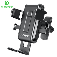 FLOVEME-Soporte Universal de teléfono móvil para coche, accesorio con bloqueo automático para iPhone 12 Pro Max 11 XR