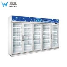 5 стеклянная дверь коммерческий холодильник для напитков портативный рефрижератор кондиционер 2~ 8 ℃