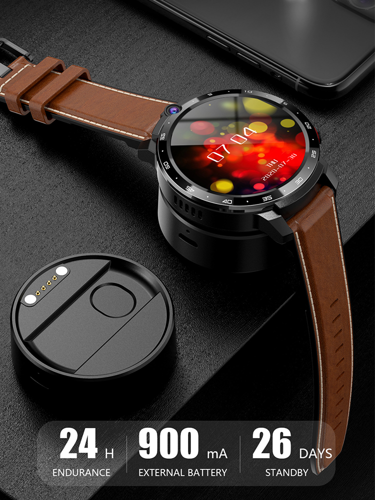 Smart-Watch Power-Bank Face-Id-Dual-Cameras Lemfo Lem12 Android Wireless PRO 10 4G MT6762