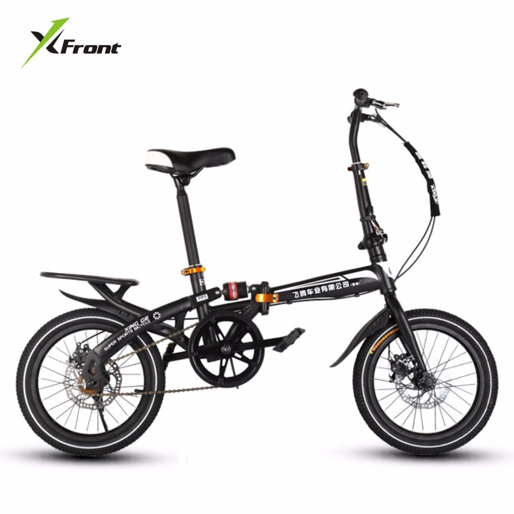 New Brand BMX Bike 14/16 Inch Wheel Disc Brake Folding Bicicleta Children Lady's Bicycle