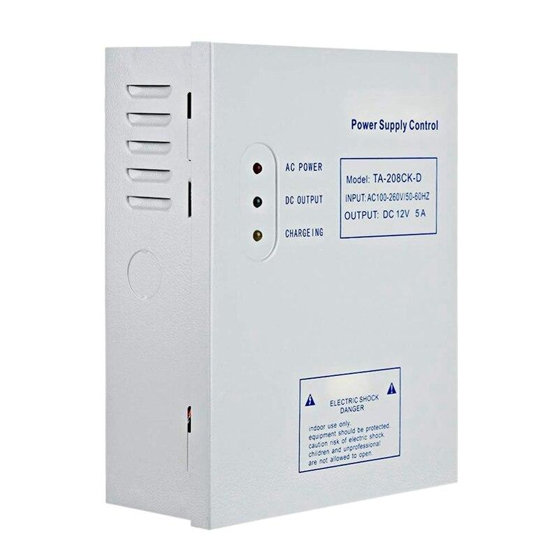 AMS-208CK-D ca 110-240V DC 12 V/5A système de contrôle d'accès de porte alimentation à découpage UPS alimentation