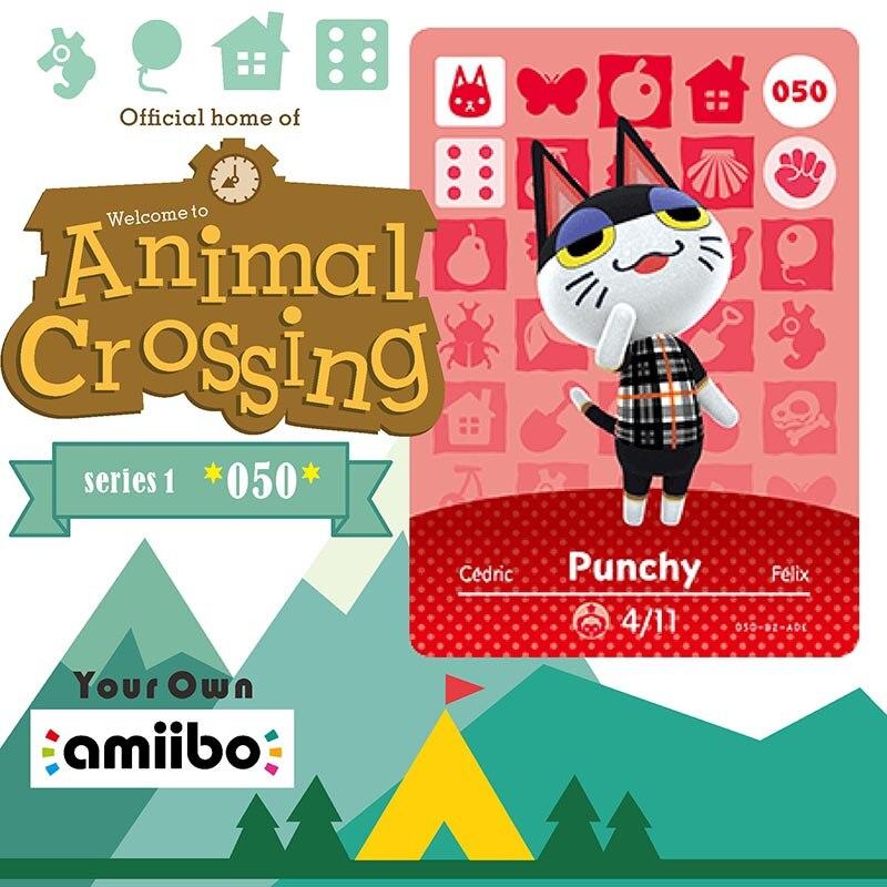 050 Punchy Animal Crossing Card Animal Crossing Amiibo Card Amiibo Card Work For Ns Games Amiibo Animal Crossing Nfc Series 1