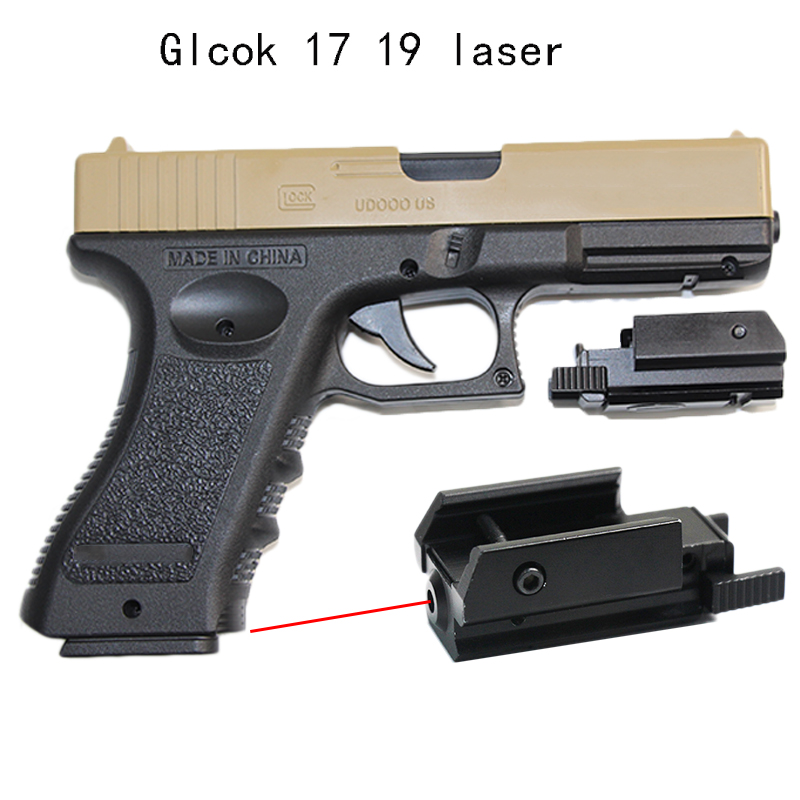 Tactical Laser Sight for Gun pistol Glock Airsoft Red Laser Pointer railscope Picatinny suitable 20mm Rail Hunting Accessories