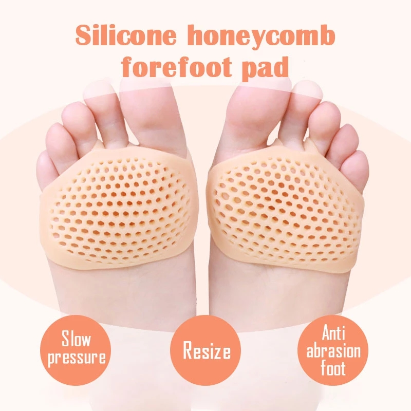 Soft Silicone Gel Toe Pads High Heel Shock Absorption Silicone Honeycomb Forefoot Pad Forefoot Pad Feet Pain Health Care