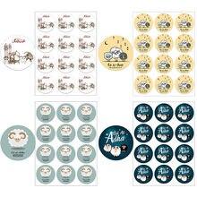 Pegatinas de papel para decoración de Eid Al Adha, sello para etiquetas de regalo, suministros de decoración, musulmán, islámico, al-adha, 3,5 cm/4,5 cm
