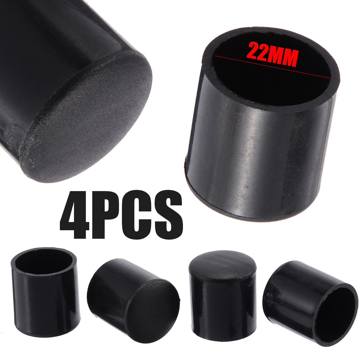 4pcs Furniture Leg Floor Anti Scratch Chair Feet Legs Cap 16mm/19mm/22mm/25mm Sofa Chair Feet Protector Caps