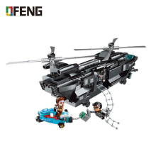 Enlighten Building Block City BLock Missing-Eagle 3 MOC Educational Black Plane Figure Bricks Toys for Children Gifts ynynoo enlighten 308 pirates series black pearl building block sets educational diy construction bricks baby toys for children page 3
