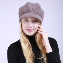 Sparsil женская теплая флисовая внутренняя трикотажная шляпа козырек Женская осенне-зимняя шерстяная однотонная шляпа Мягкая шапка женская