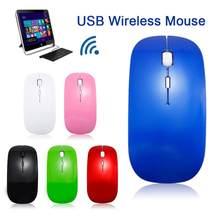 2,4 GHz Wireless Mouse Optical Gaming Mäuse für Computer Laptop PC Mit USB Empfänger Ultra Dünne 1600dpi USB Büro gamer Maus