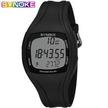 SYNOKE Mens Digital Watches Pedometer Calorie Fitness Sport Watch Men Waterproof Silicone Led Wristwatches Fashion