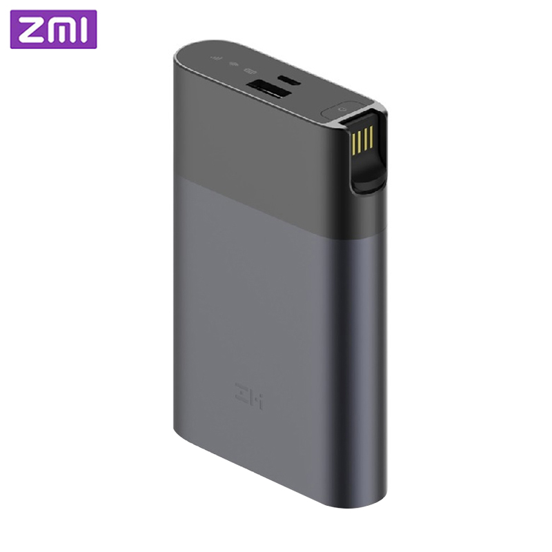 ZMI MF885 4G Wifi Router <font><b>10000</b></font> <font><b>mAh</b></font> Power Bank Portable Wireless wifi repeater 3G4G Router Mobile Hotspot Free Shipping image