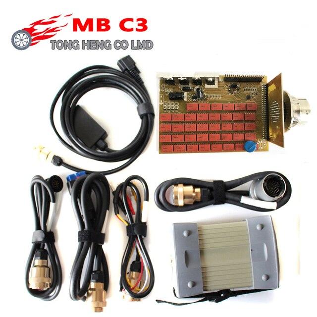 Beste Qualität MB Star C3 Volle Chip Unterstützung 12V & 24V MB C3 Stern Diagnose Werkzeug MB Sterne c3 Multiplexer Tester