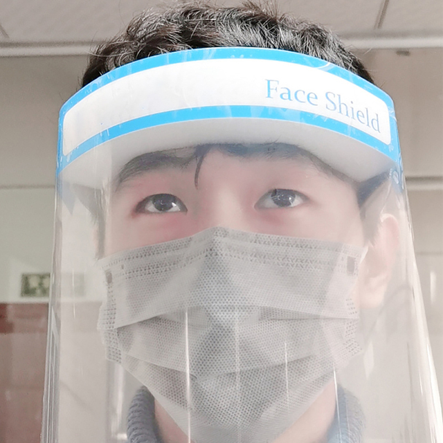 Transparent Protective Mask Dust-proof Oil-Splash Proof Full Face Mask Protect Shield Safety Mask 2