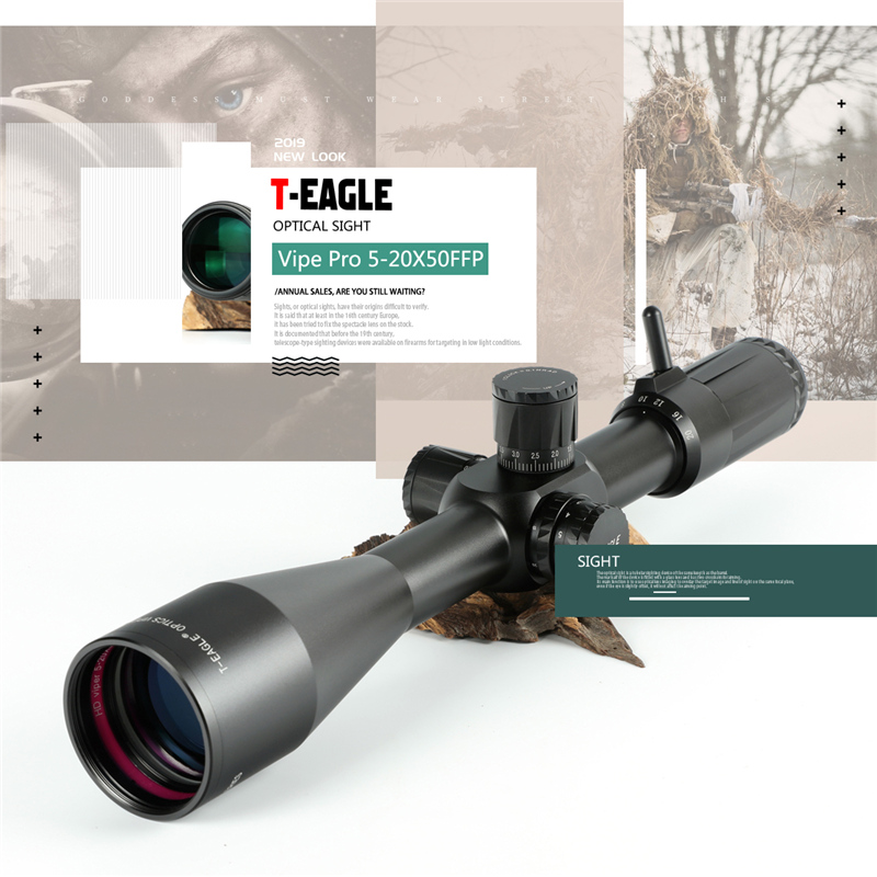 TEAGLE HD 5-20X50 FFP Long Range FFP First Focal Plane Shooting Hunting Riflescope 34mm Tube Optical Sight Collimator Scope