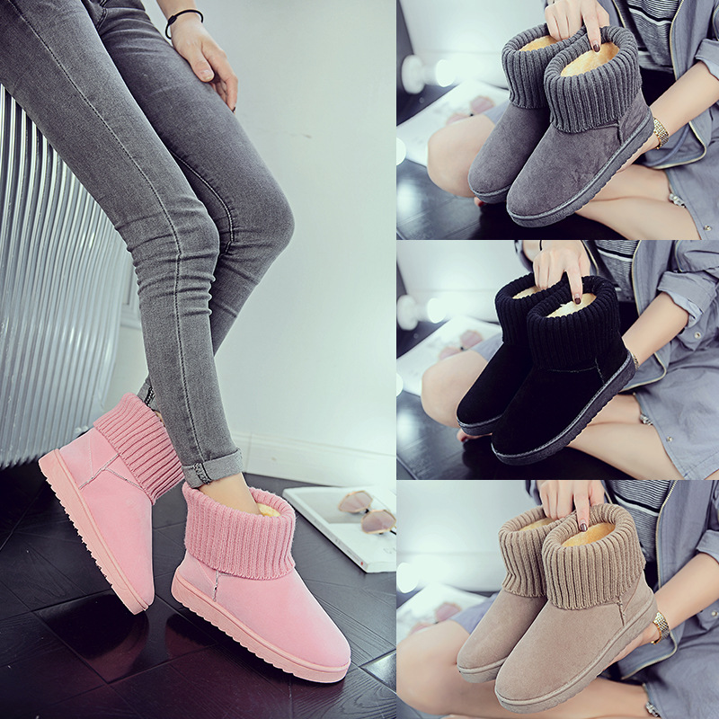 Women's new snow boots winter fashion wild classic women's shoes simple warm non-slip waterproof wool shoes ladies ankle boots 68