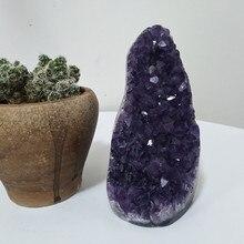 고품질 우루과이 돌 자수정 geode 수정 같은 석영 송이 가정 장식 전시 amethyste pierre naturelle