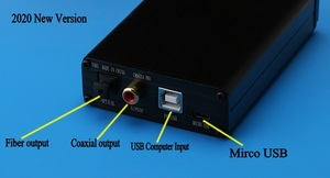 Image 2 - Placa de alta fidelidade cm6631a dac usb interface digital 32/24bit 192k usb para i2s/spdif coaxial saída áudio decodificador conversor analógico