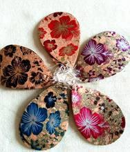 30 pares lote novo design exclusivo floral impressão de couro lágrima brincos para as mulheres gotas de lágrima caber todos os 2020 quente