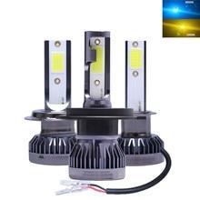 2x Mini H7 LED H1 H3 H4 H11 HB3 HB4 9005 9006 led Car Headlight Bulb 50W 9000LM Styling 12V 24V 3000K 8000K Auto Lights Lamp