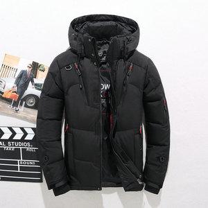 Image 3 - באיכות גבוהה עבה חם חורף מעיל גברים סלעית לעבות ברווז למטה דובון מעיל מזדמן לרזות Mens מעיל עם רבים כיסים