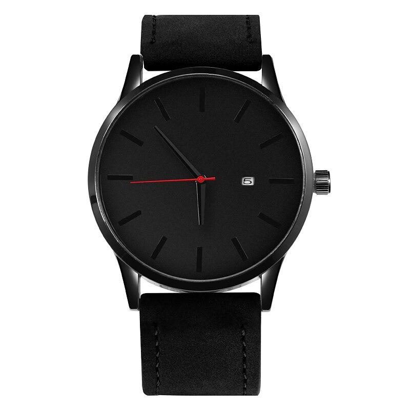 Men's Watches Fashion Leather Quartz Watch Men Casual Sports Male erkek kol saati Wristwatch Montre Hombre Relogio Masculino 4
