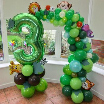 40 cal zielony balony cyfry dżungli imprezowe balony foliowe Baby Boy dekoracja urodzinowa dla dzieci balony ze zwierzętami dostaw tanie i dobre opinie meidding CN (pochodzenie) Cartoon Amnimal Numer Folia aluminiowa Emeryturę Płeć Reveal Birthday party Dom ruchome Dzień dziecka