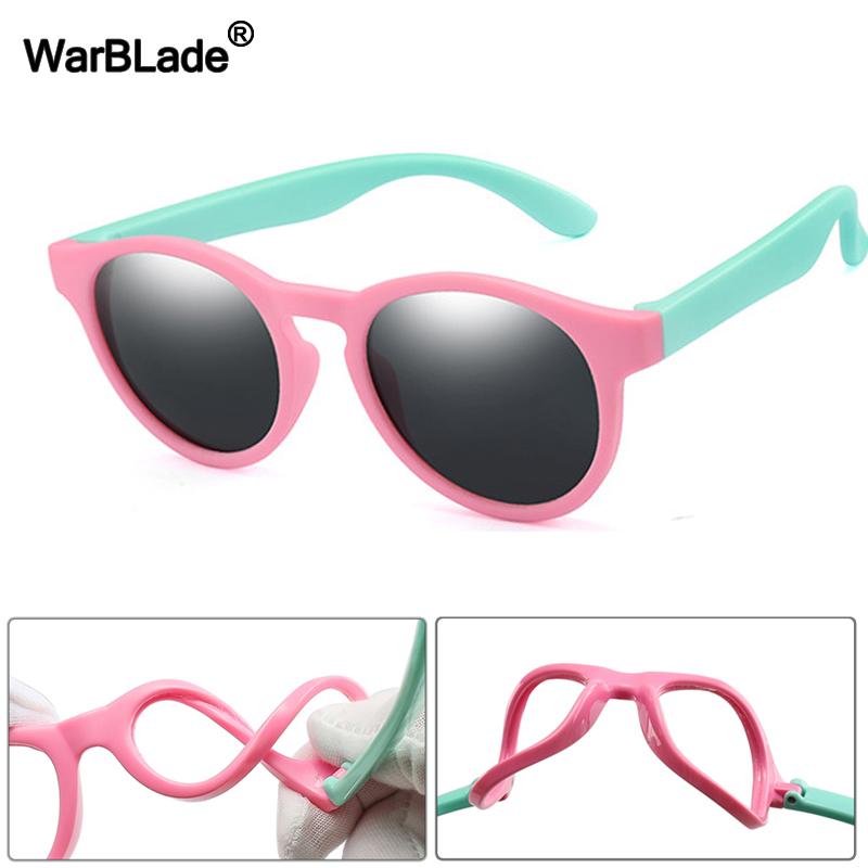WarBlade 2020 New Kids Polarized Sunglasses Round Children Sun Glasses Boys Girl Safety Glasses Baby Infant Shades Eyewear UV400