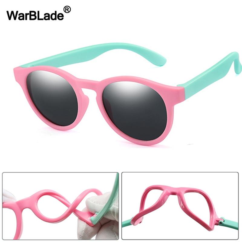 WarBlade 2020 New Kids Polarized Sunglasses Round Children Sun Glasses Boys Girl Safety Glasses Baby Infant Shades Eyewear UV400