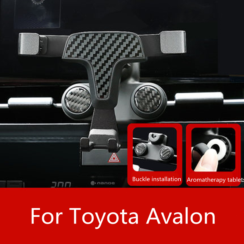 Gravity Car Air Vent Outlet Dashboard Mobile Cell Phone Holder Reaction Clip Mount Cradle Aromatherapy For Toyota AVALON 2019