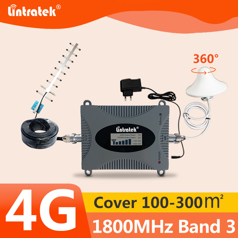Lintratek 4G LTE Signal Booster DCS 1800 Mhz Repeater GSM 4G Mobile Signal Repeater 1800mhz Cellular Signal Amplifier Band 3 #6-in Signal Boosters from Cellphones & Telecommunications
