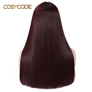 Image 2 - Cosycode 99j peruca cosplay com franja 22 polegada longa peruca reta para mulher não laço peruca sintética traje resistente ao calor