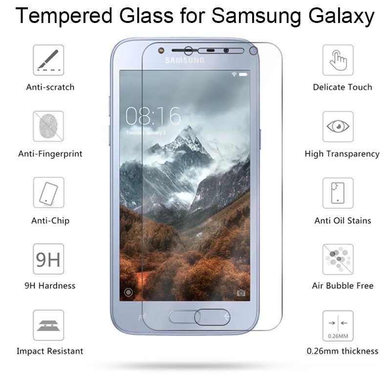 الزجاج المقسى زجاج واقي لسامسونج J8 J7 J6 J4 زائد J3 9H HD توغيد واقي للشاشة على غالاكسي ملاحظة 7 5 4 3 2