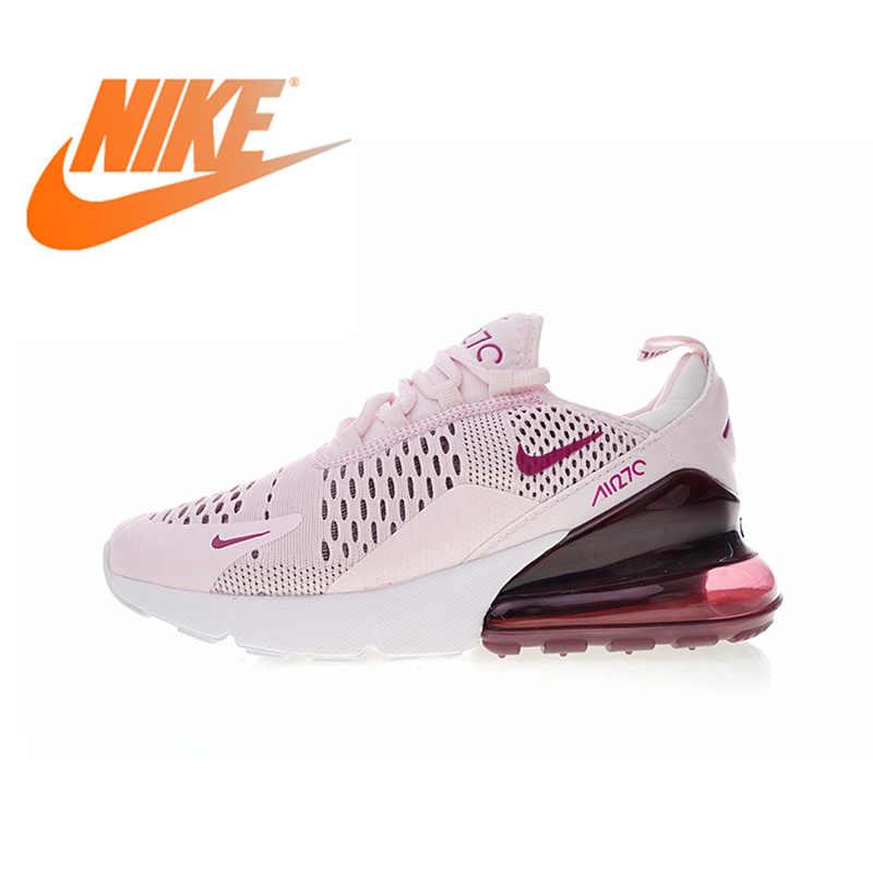 Оригинальный Nike Оригинальные кроссовки Air Max 270 женские кроссовки спортивная обувь Спорт на открытом воздухе для уличной пробежки, воздухопроницаемая комфортная обувь прочный AH6789