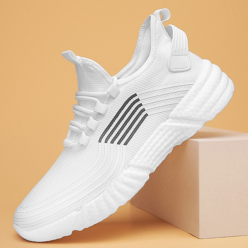 2020 New Men Tenis Casual Boots White Men's Vulcanize Shoe Sneakers Men Shoes Mesh Thick Bottom Breathable Tennis Masculino