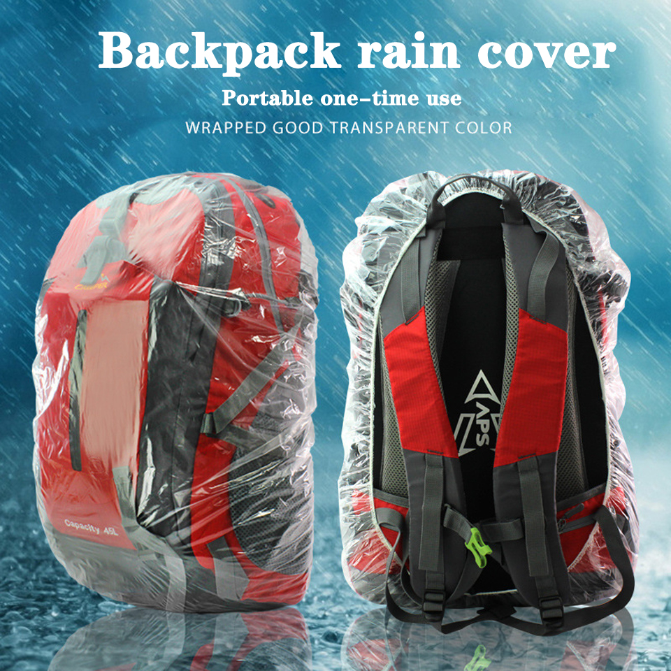 20-55L Ultralight Outdoor Backpack Rain Cover Disposable Transparent Travel Camping Hiking Bag Raincoat Waterproof Dust Cover