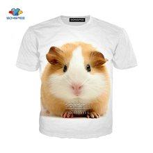 Мужские футболки хомяк с 3d принтом морской свиньи женская футболка