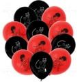 Новинка; 1 комплект детский стильная футболка с изображением персонажей видеоигр 7 с изображением звезды для девочек красно-черная кошка во...