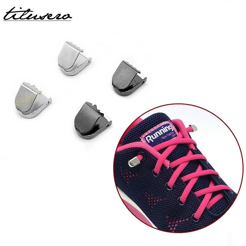 Shoe Accessories No Tie Shoe Buckles Metal Shoe Locks Simple Lazy Lacing System Shoes Locks F101
