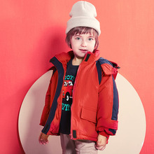 цена на 24M-9Y Boy Winter Down Jacket Parka Toddler Girl Warm Coats Down Hooded Jackets Children's Clothing for Snow Wear Kids Outerwear